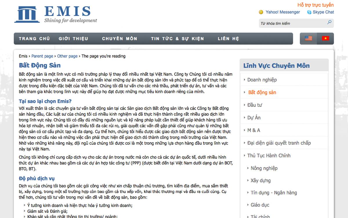 EMIS Law Firm Web