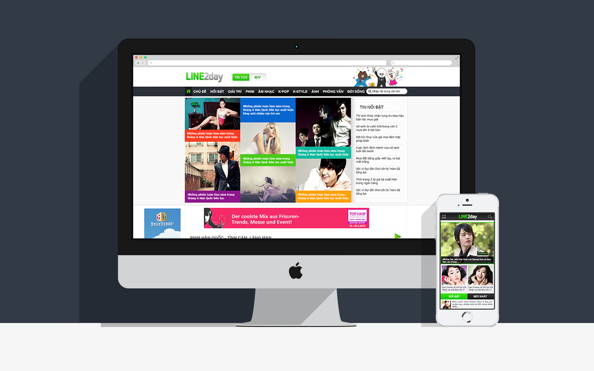 Line2day Website